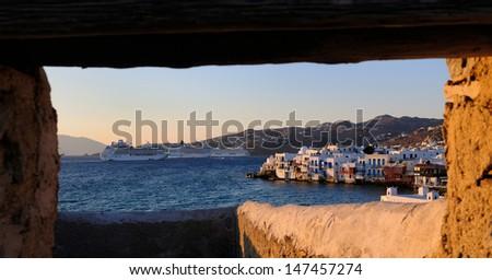 Window to Little Venice - stock photo