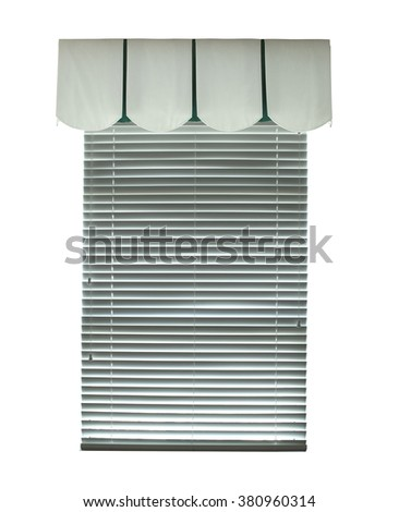 Window with blinds, an architectural element - stock photo