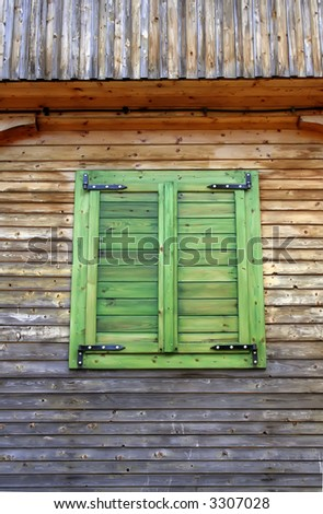 Window with closed shutters