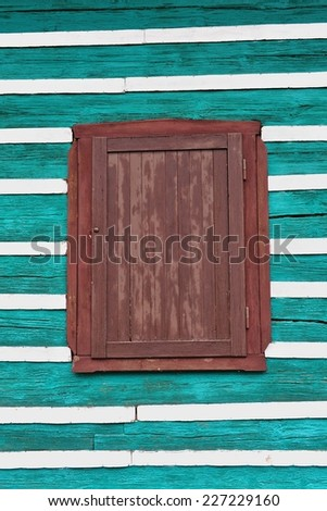 Windows and shutters - stock photo