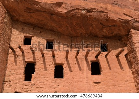 Windows at Manitou Cliff Dwellings near Colorado Springs