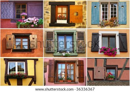 Windows collage - stock photo