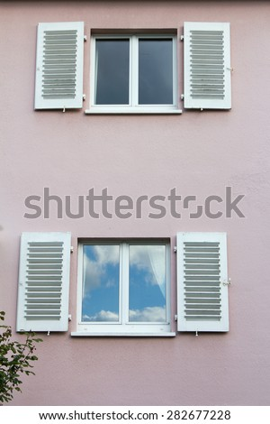 Windows from a house - stock photo