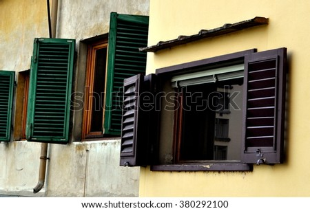 Windows in Florence