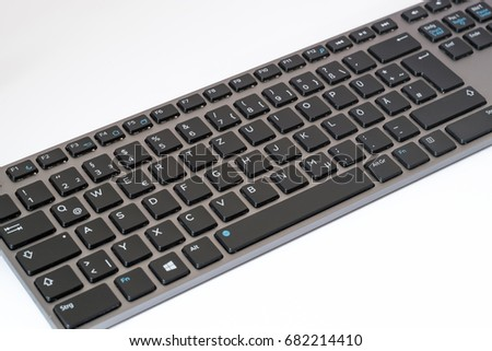 Windows keyboard on table