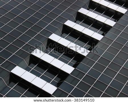 windows of a modern building - stock photo