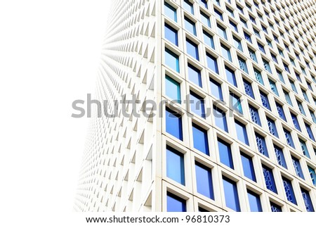 Windows of a modern office building - stock photo