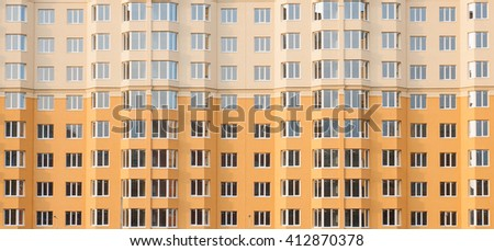 Windows of a new many-storied apartment house  - stock photo