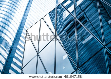 windows of business building - stock photo