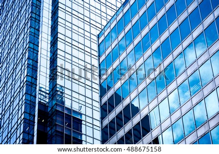 windows of business building in Hong Kong
