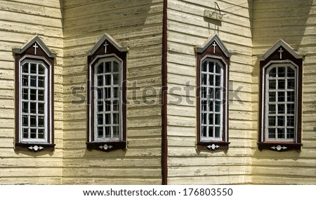Windows of christian church