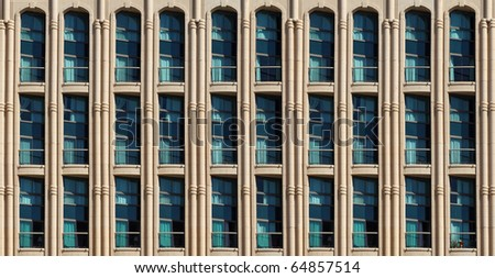 Windows of modern hotel (background) - stock photo