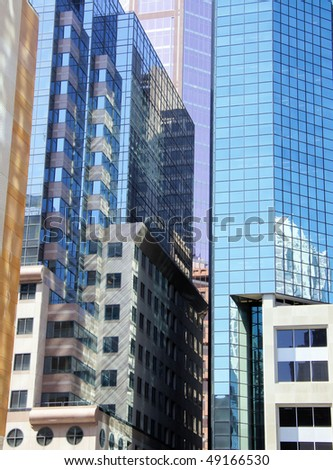 Windows of Montreal Office Building # 1 - stock photo
