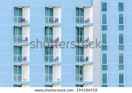 Windows office building background - stock photo