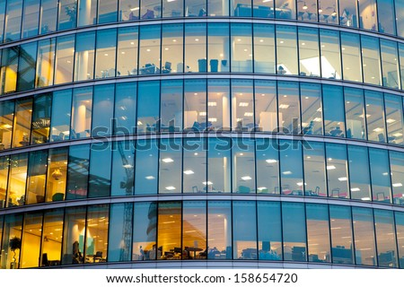 windows office building for background  - stock photo