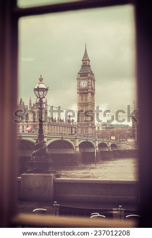 Windows on London - stock photo