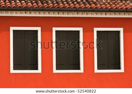 Windows, Venice - stock photo