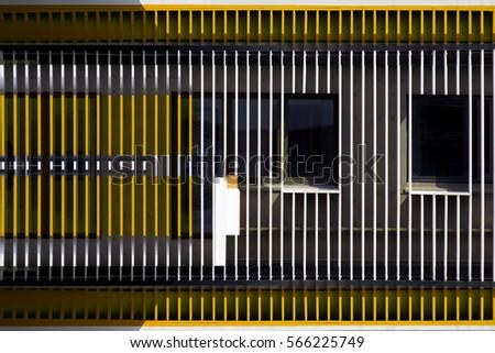 windows visible through blinds louvers jalousie stock photo 566225749 shutterstock. Black Bedroom Furniture Sets. Home Design Ideas