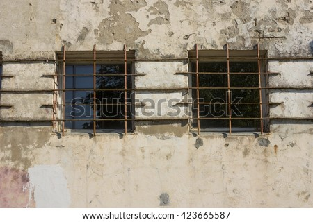 Windows with steel bars