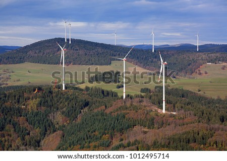 Windpark Glaserkopf in Hasel an Rohrenkopf in Gersbach in the Black Forest, Germany