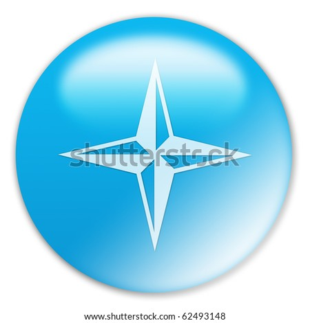 Windrose Button - stock photo