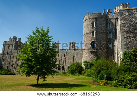 WINDSOR - AUGUST 10 :The Windsor Castle in the English county of Berkshire in the UK on August 10, 2010 in Windsor, UK - stock photo