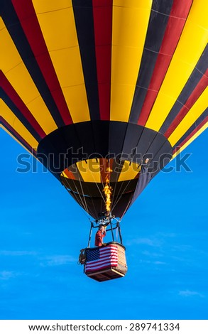 Windsor, CALIFORNIA/UNITED STATES - JUNE 20, 2015: 25th Sonoma County Hot Air Balloon Classic on June 20, 2015 in Windsor, Keiser Park, in Sonoma Wine Country.