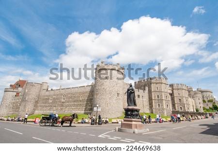 Windsor castle near London, United Kingdom - stock photo