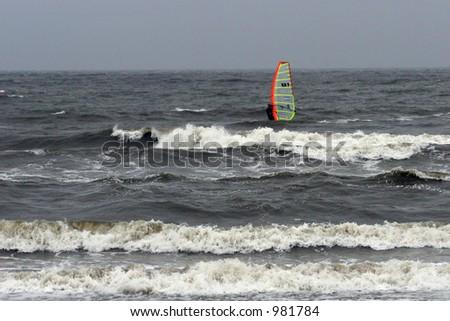 windsurfer - stock photo