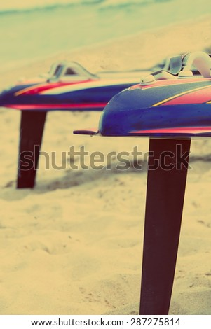 Windsurfing Boards - stock photo