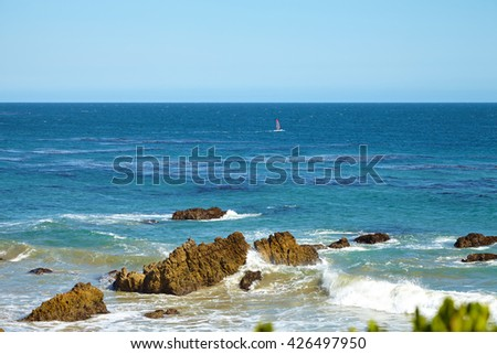 Windsurfing in Malibu - stock photo