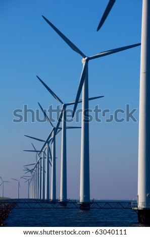 Windturbine in the netherlands - stock photo