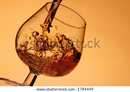 Wine and glass