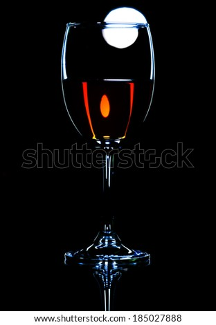 wine and moon  - stock photo