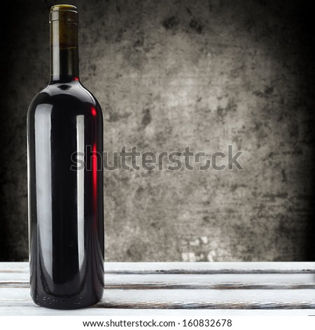 wine and wall  - stock photo