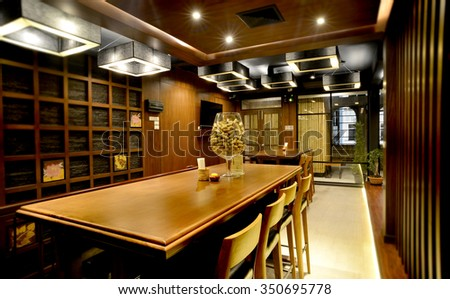 Wine bar design for after work time for rekax - stock photo