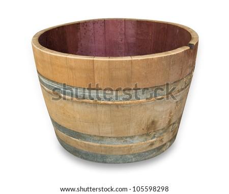 Wine Barrel cut in half - stock photo