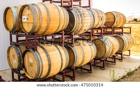 Wine Barrels at Foothill Winery