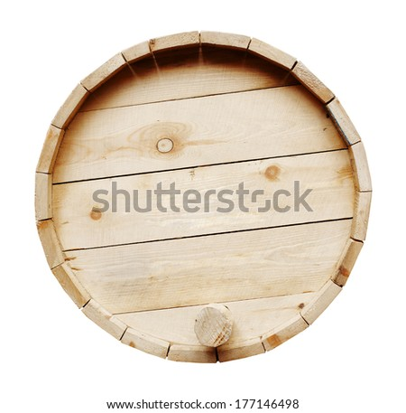 Wine barrels isolated on white background - stock photo
