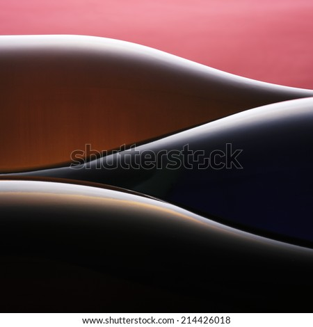 wine bottle abstract - stock photo