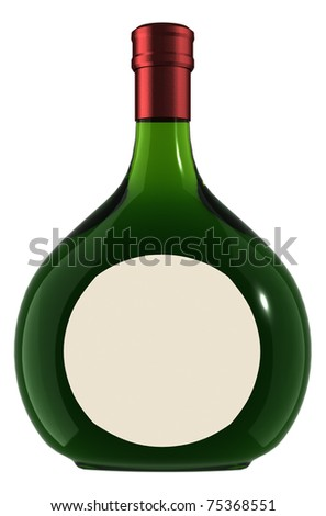 Wine Bottle - boxed - stock photo