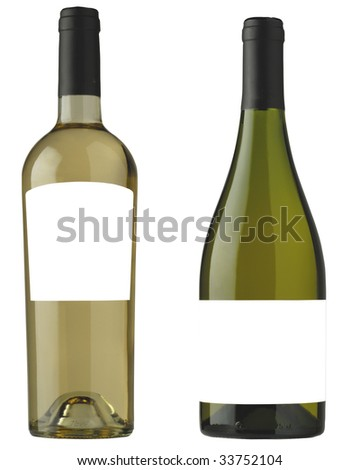 wine bottle for label design