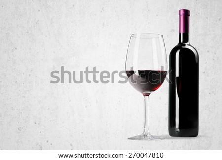 Wine Bottle, Wine, Bottle. - stock photo