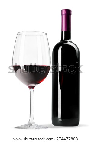 Wine Bottle, Wine, Bottle. - stock photo