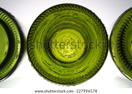 wine bottles - stock photo
