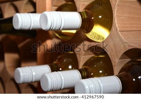 Wine bottles. - stock photo