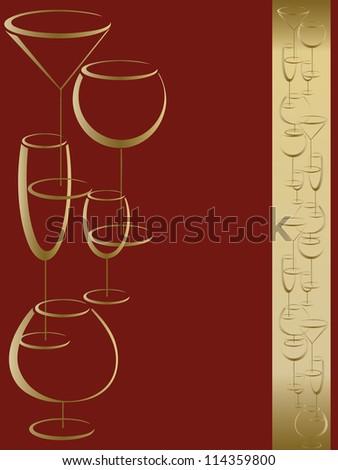 Wine card menu - stock photo