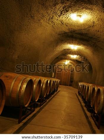 Wine Cave - stock photo