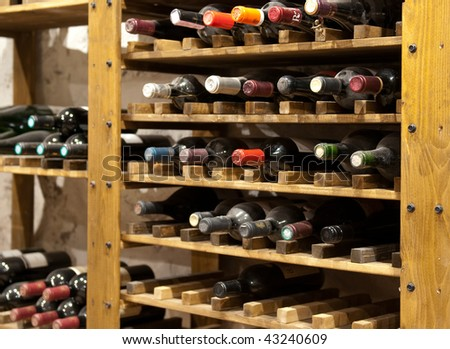 Wine cellar - stock photo
