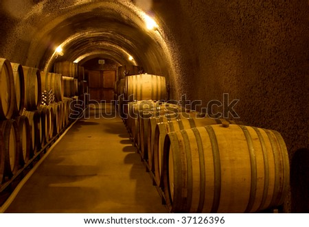 Wine Cellar Cave - stock photo